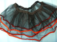 Red Ribbon Tulle Slip Skirt