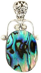 Beautiful Abalone Pendant and Necklace