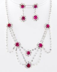 Super Sparkly Rhinestone Necklace and Earring Set.