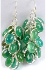 Green Onyx and Sterling Silver Earrings