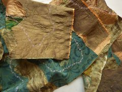 Silk Art Scarf Torn Silk Artist Orignal Scarf