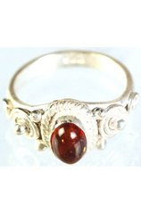Amber and Sterling SIiver Ring