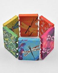 Colorful Stretch Paper Craft Bracelet.