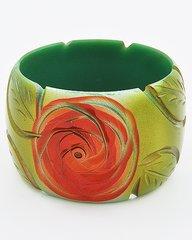 Carved Rose Chunky Bracelet