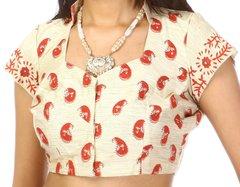 Cream Art Silk Choli