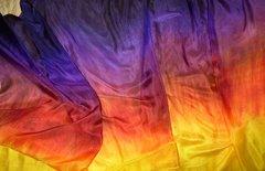 Silk Belly Dance Veil ,California Sunset II, 3 yard Veil, 5mm
