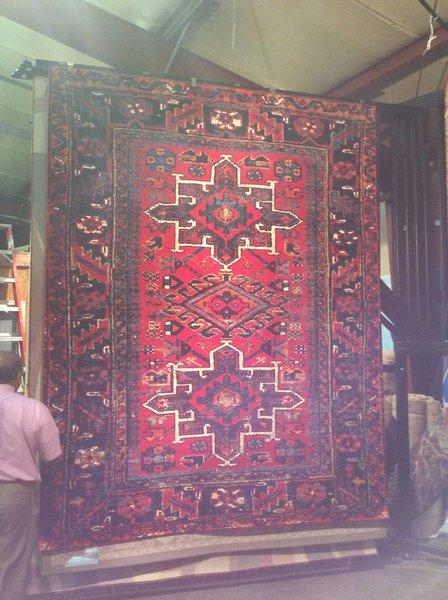 Red Persian Heriz Design 8x11 Machinemade Rug