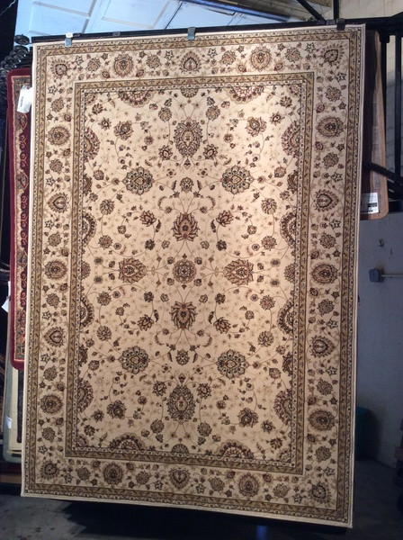 Creme Esfahan persian design 5x8 machine-made