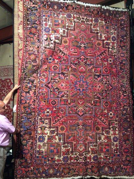 antique persian heriz hand made 8x11
