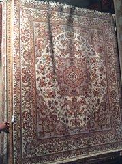 persian design tabriz,silk,wool hand made 8x10