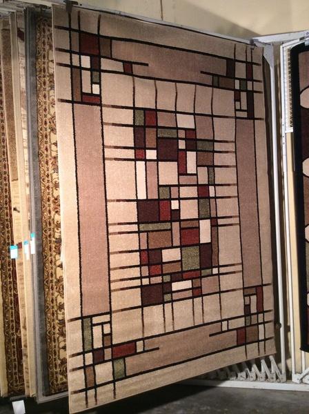 Contemporary gallery 5x8 machine-made rug
