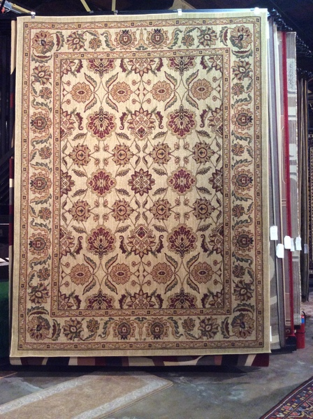 Creme Antique colored Kashan design 8x11 Machinemade .sold out