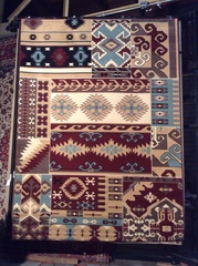 Aztec traditions 8x11 machine-made rug. this rug is sold out