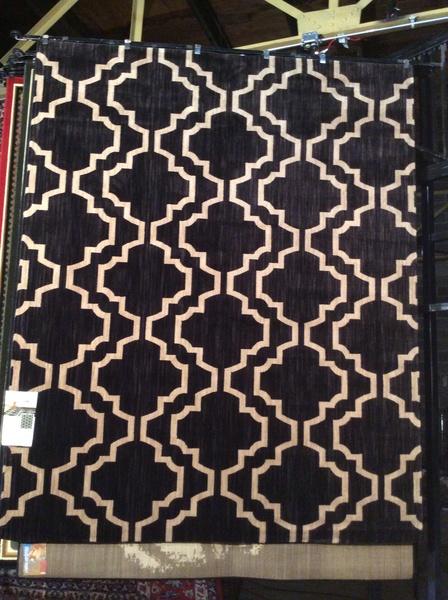 Contemporary Moroccan Trellis design karastan 8x11 machine-made rug
