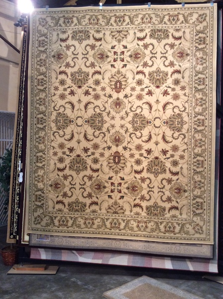 Creme Persian all-over pattern 8x10 machinemade
