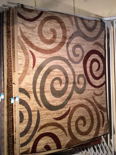Contemporary design 5x8 machine made rug