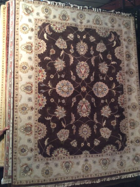 persian design,kashan, wool, hand made 8x10