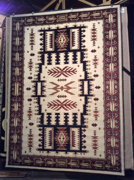 Creme Aztec 8x11 machine made rug