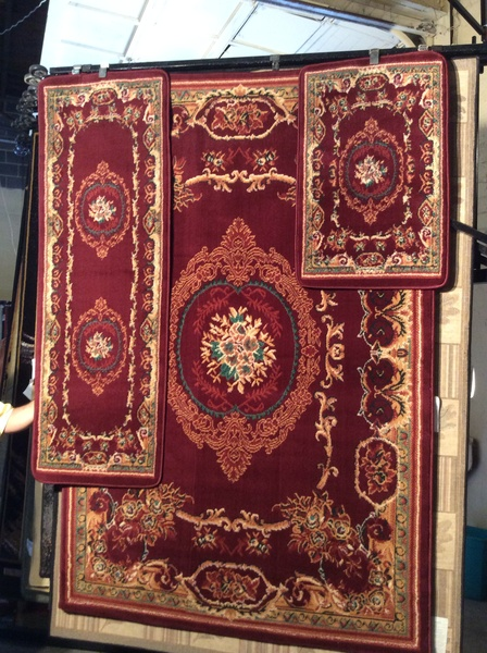 3-piece set cranberry machine-made rugs .this color is sold out