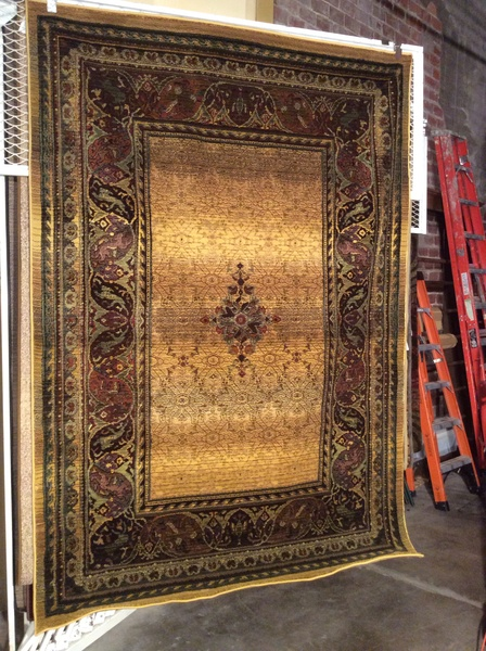 Gold tea wash 5x8 machine made rug.sold out