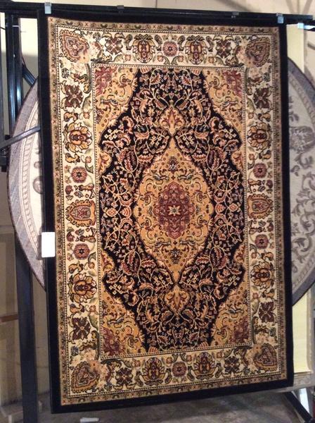 Black persian design 5x8 machinemade