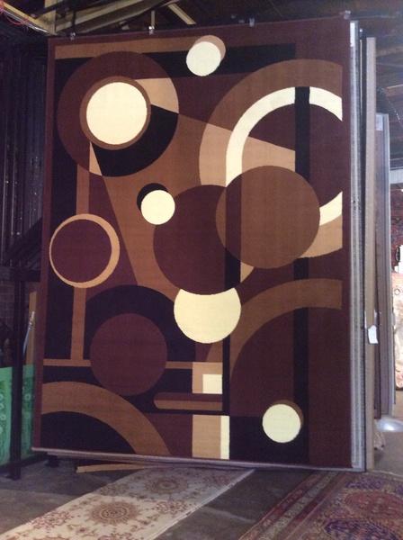 Brown machinemade rug