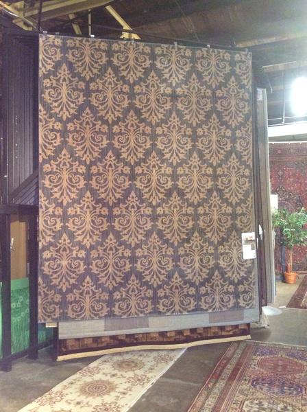 Gray antique look Karastan 8x10 machine made rug