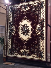 8x11 Cranberry French Aubusson