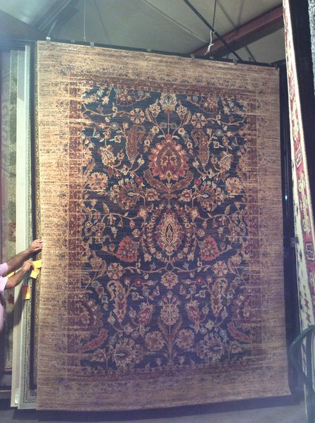 Antique Gold Persian Pattern 8x11 Machinemade Rug