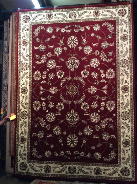 8x10 Machinemade Red persian design