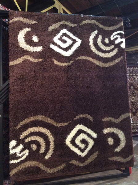Brown Shag 8x11 Machinemade Rug.sold out
