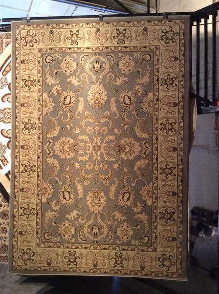 Gray persian Esfahan design 5x8 machinemade