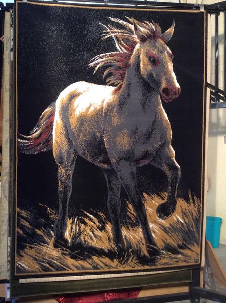 Unicorn 5x8 machine-made rug