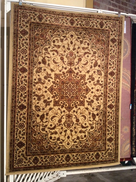 Creme antique look persian design 5x8 machine-made rug