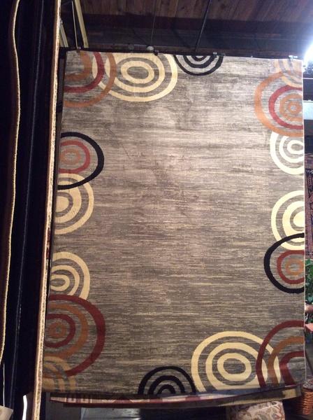 Gray contemporary 8x11 machine-made rug