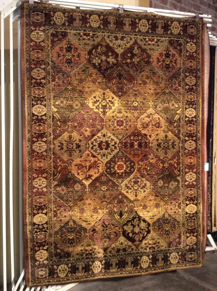 Tea wash panel Kerman 5x8 machine made rug.sold out