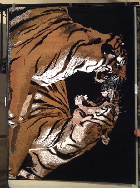 Tigers 5x8 machine-made rug