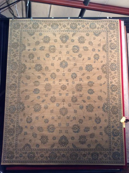Gold and Blue Persian design 8x11 Machinemade Rug