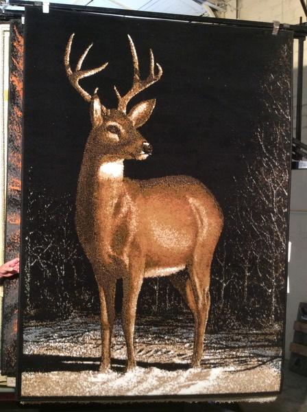 Deer 5x8 machine-made rug