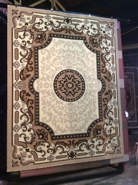 Creme French Aubusson style 8x11 machine made