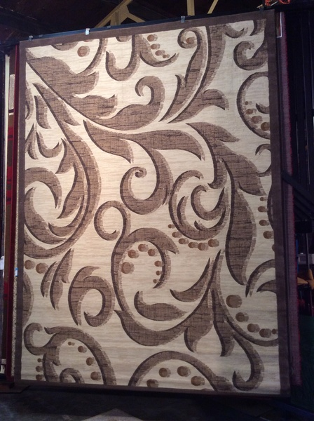 Creme Transitional 8x11 machine-made rug