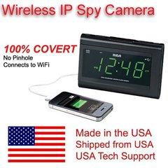 SecureGuard Wireless true IP WiFi P2P Clock Radio & USB Charger Spy Camera Covert Hidden Nanny Camera Spy Gadget IP