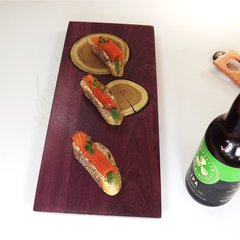 MEDIUM charcuterie board with inlaid mulberry growth rings