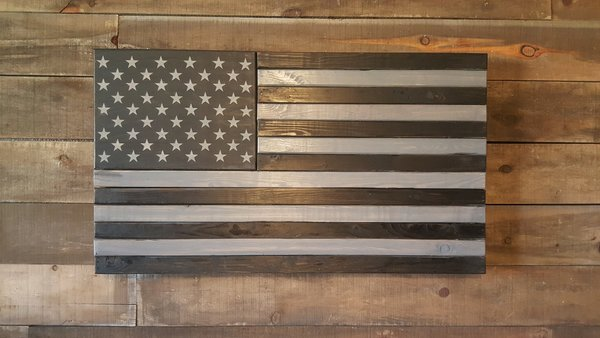 X Large Concealed Weapon American Flag Wooden American