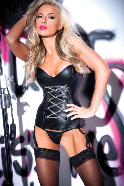 Chains of Pleasure Corset (Item#:11-al-5402)