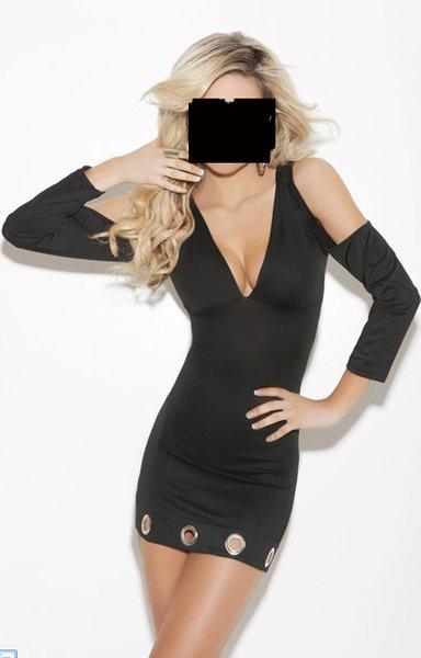 V Neck Dress (Item#:e82m73-em)