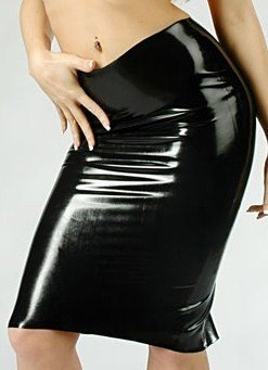Latex Midi Skirt (Item#:61ww30)