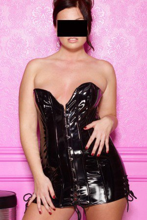 "Vinyl ""Disciplined"" Corset Dress (Item#:a-17-l-1257-al)"