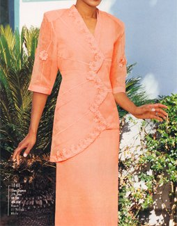 Peach Linen Suit (Item#:fpi-1848)