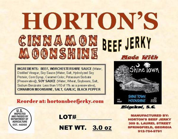 Cinnamon Moonshine Beef Jerky